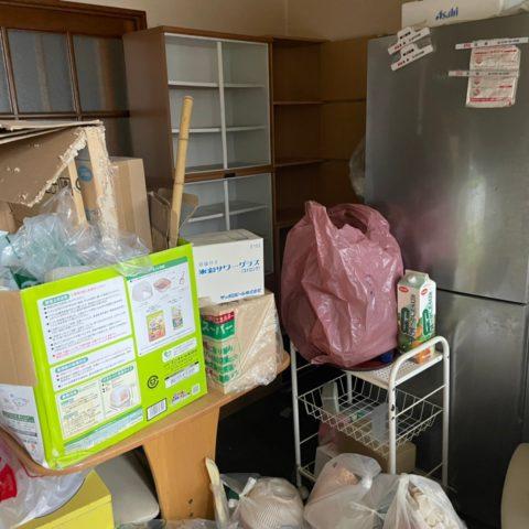 アパートの不用品回収前の写真、千葉茂原