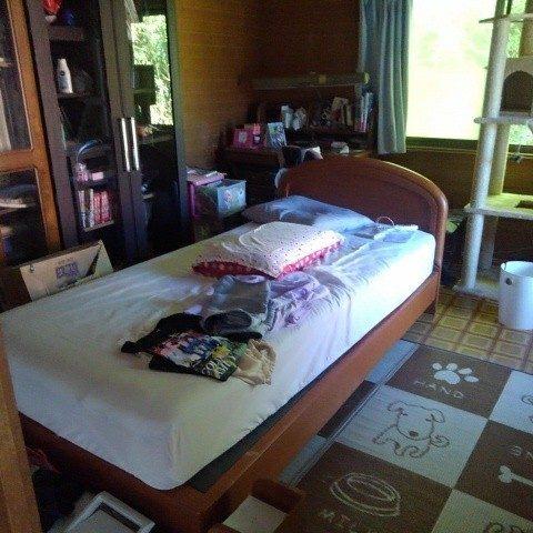 作業前の寝室